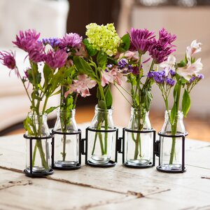 Hinged 5 Bottle Table Vase