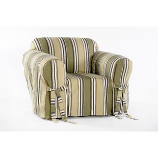 Cotton Duck Box Cushion Armchair Slipcover