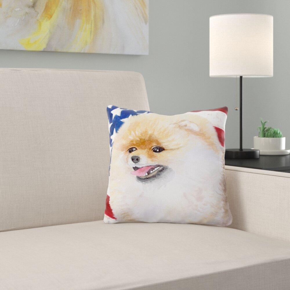 East Urban Home Yorkshire Terrier 2 Patriotic Indoor Outdoor Throw Pillow Wayfair