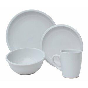 Contempo Cantina 2-Tone Stoneware 32 Piece Dinnerware Set, Service for 8