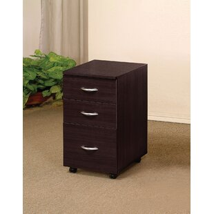 Burrage 3 Drawer Mobile File Cabinet