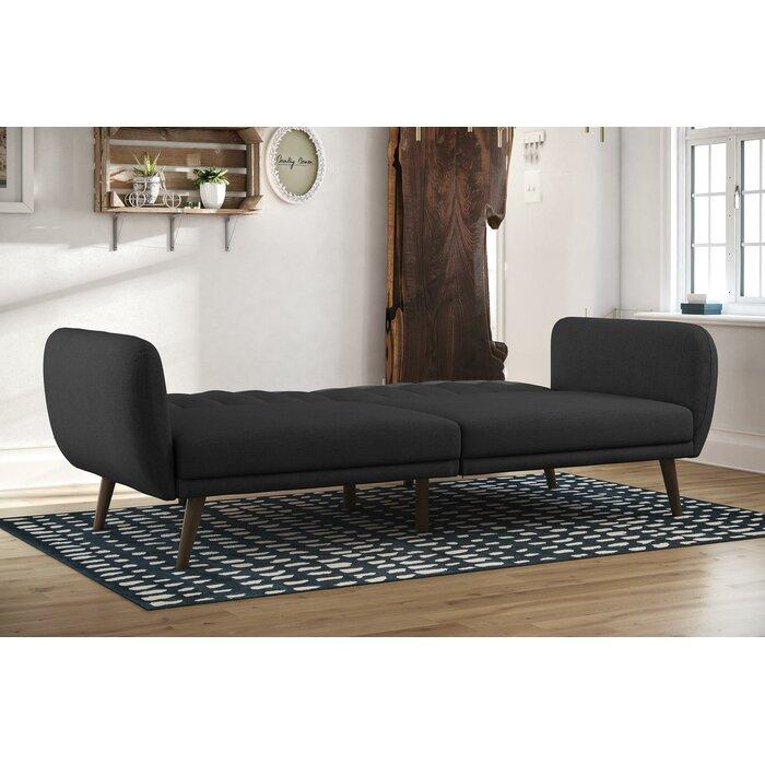 Magnificent Novogratz Brittany Full Convertible Sofa Short Links Chair Design For Home Short Linksinfo