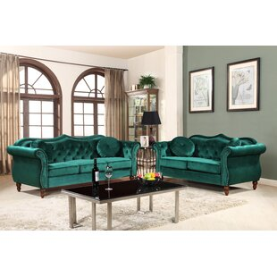 Tommy Classic Nailhead Chesterfield 2 Piece Living Room Set By House Of Hampton