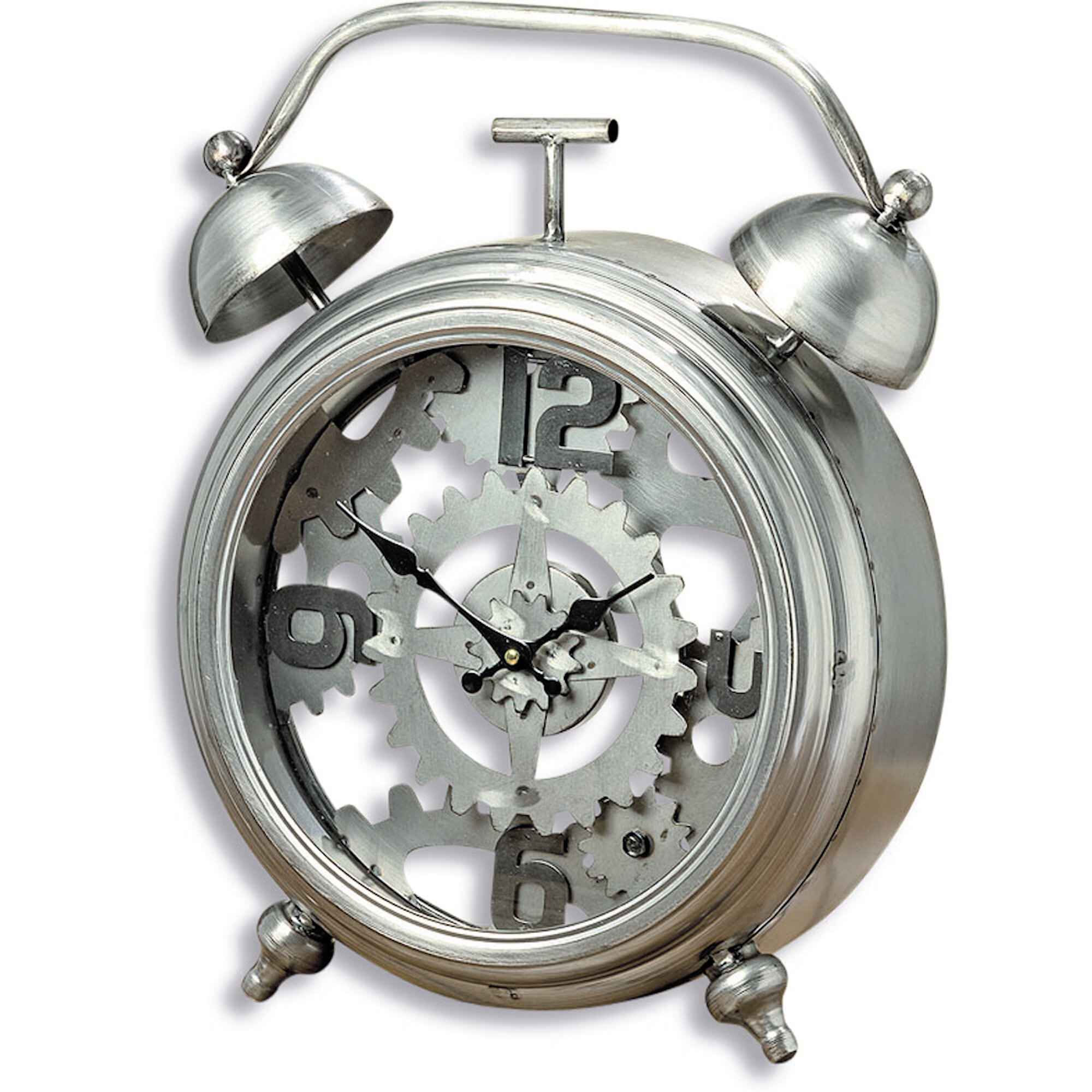 Williston Forge The Exposed Gears Vintage Style Alarm Clock 1 Ft 6