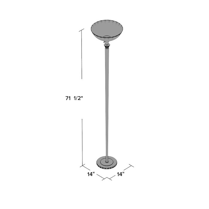 Nettles 71 5 Torchiere Floor Lamp