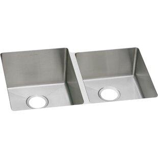 Crosstown 31 L x 21 W Double Basin Undermount Kitchen Sink by Elkay