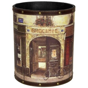 Oriental Furniture Parisian Cafe 2.9 Gallon Waste Basket