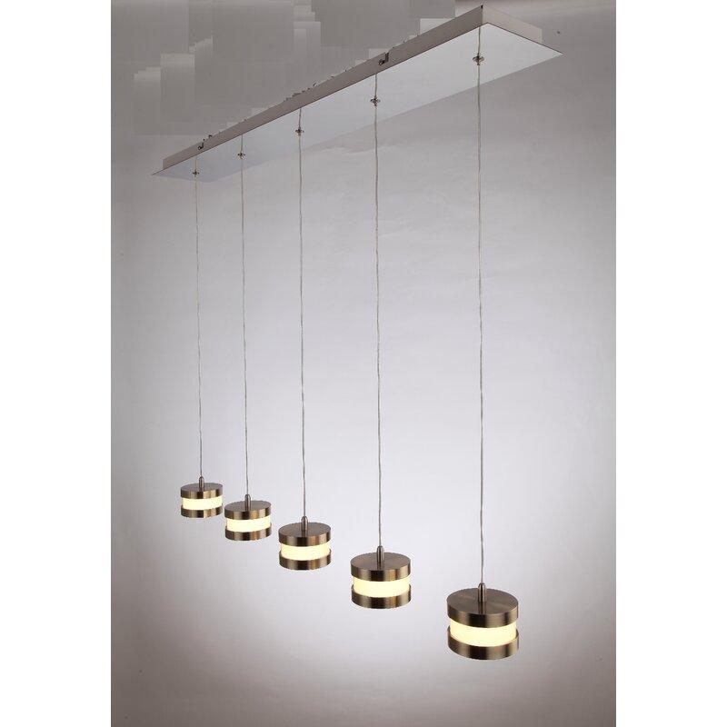 Trautman 5-Light LED Kitchen Island Pendant
