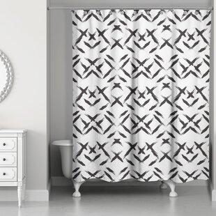 Comparison Novotny Brush Strokes Shower Curtain ByBrayden Studio