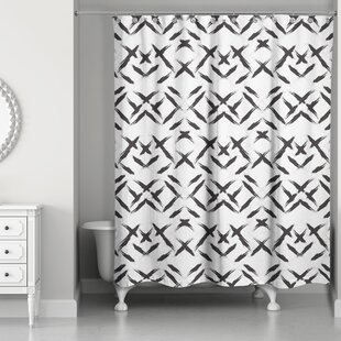 Novotny Brush Strokes Single Shower Curtain by Brayden Studio Design