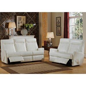 Toledo 2 Piece Leather Living Room Set