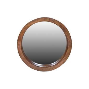 ac24480286cd Varaluz Ringleader Thick Frame Round Wall Mirror