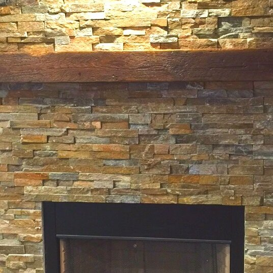 Creative Hardwoods Reclaimed Barn Beam Fireplace Mantel Shelf
