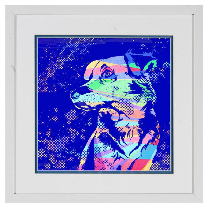 Ptm Pop Dog Framed Painting Print Wayfair