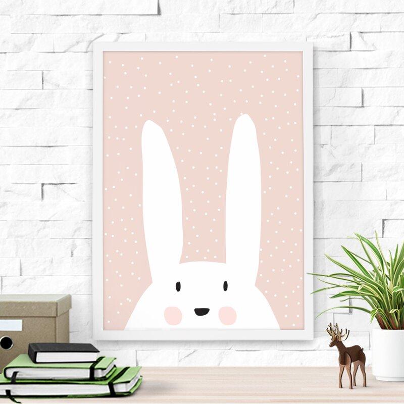 Dilemma Posters Cute Bunny Framed Art & Reviews | Wayfair