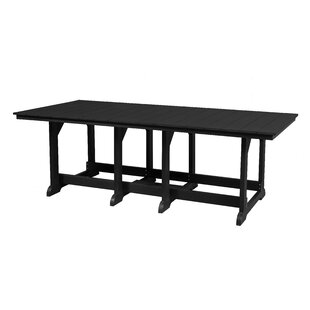 Patricia Plastic/Resin Dining Table by Rosecliff Heights