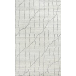 Romane Illusions Hand-Knotted Ivory/Gray Area Rug