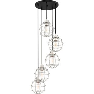 Cleland 5-Light Cluster Pendant by Williston Forge