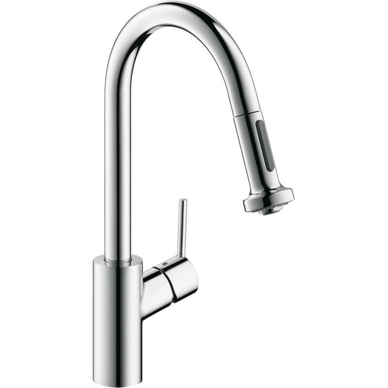 Hansgrohe Talis S Pull Down Single Handle Kitchen Faucet Reviews Wayfair