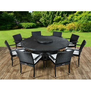 Kiska 8 Seater Dining Set With Cushions By Sol 72 Outdoor