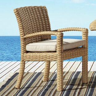 Leucadia Stacking Patio Dining Chair with Cushion
