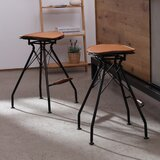 Belgr Industrial Metal Bar & Counter Stool (Set of 2) by Williston Forge