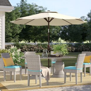 Falmouth Wicker 7 Piece Outdoor Dining Set
