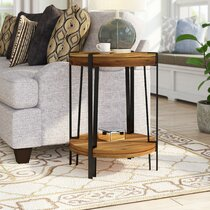 Red Wood End Side Tables You Ll Love In 2021 Wayfair