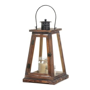 Comparison Wood Lantern By Beachcrest Home