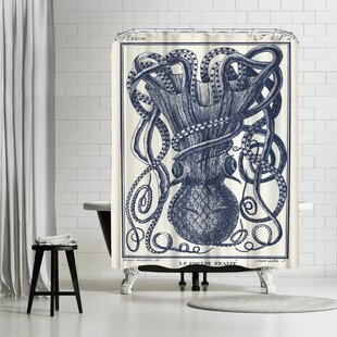 Adams Ale Tangles Tentacles Single Shower Curtain