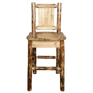 Southborough 24 Pine Wood Bar Stool Loon Peak
