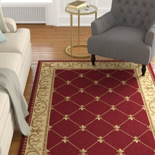 Clarence Red/Beige/Gold Area Rug by Astoria Grand