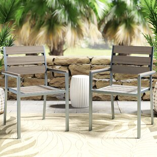Allen Stacking Patio Dining Chair (Set of 2) by Beachcrest Home