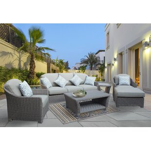 Grimes 6 Piece Sofa Set with Cushions