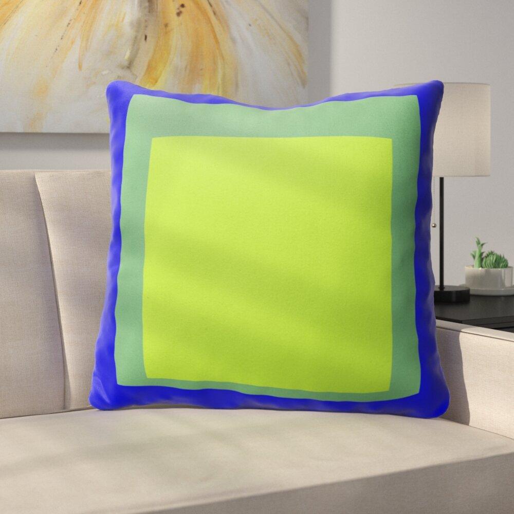 Latitude Run Balog Cotton Outdoor Geometric 26 Euro Pillow Wayfair