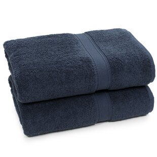 Toscano 2 Piece Turkish Cotton Bath Towel Set (Set of 2)