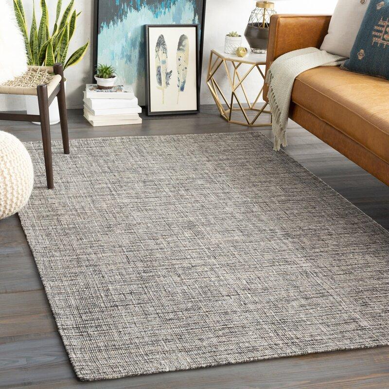 Jordan Textured Wool Gray Area Rug