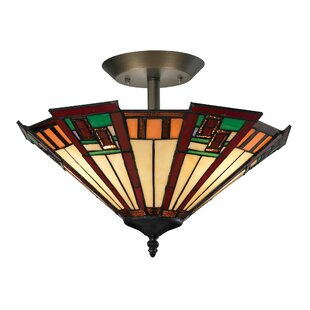 Boudreau 3-Light Semi Flush Mount by Loon Peak