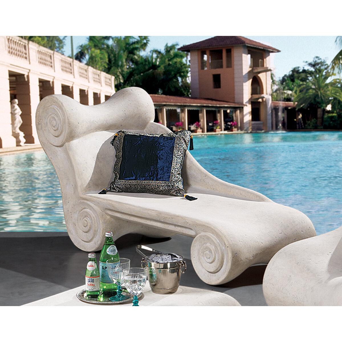 Design Toscano Hadrian S Villa Roman Chaise Lounge Wayfair