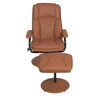 Waybury Manual Swivel Recliner and Ottoman