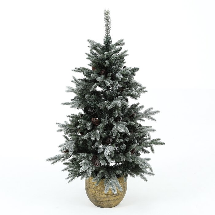 Christmas Leaves.54 Green Leaves Pine Trees Artificial Christmas Tree With 100 Lights Clear White Lights