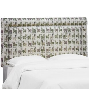 Aidy Lion Block Border Upholstered Panel Headboard by Bloomsbury Market