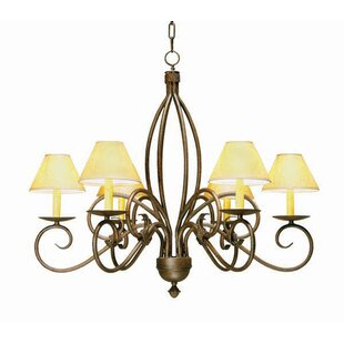2nd Ave Design Squire 6-Light Shaded Chandelier
