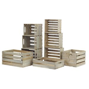 9 Piece Nested Crate Set