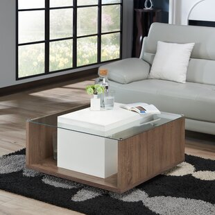 Halterman Contemporary Coffee Table with Magazine Rack