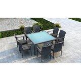Gilleland 9 Piece Dining Set with Sunbrella Cushion