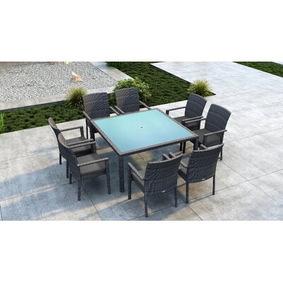Gilleland 9 Piece Dining Set With Sunbrella Cushion by Orren Ellis Today Sale Only
