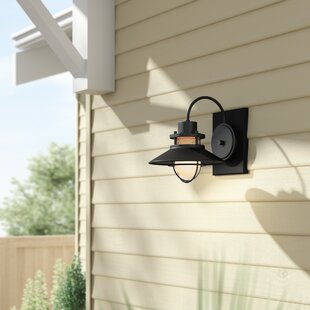 Waterton Outdoor Sconce by Breakwater Bay