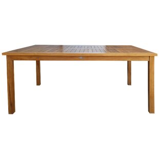 Kiana Solid Wood Dining Table by Longshore Tides