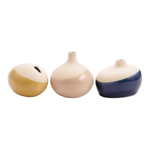 Driggers Dipped Mini Bud 3 Piece Table Vase Set